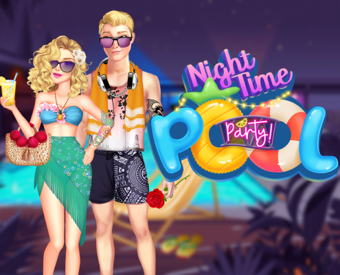 Nighttime Pool Party