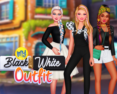 My Black And White Outfit